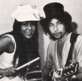 Clydie King and Bob Dylan